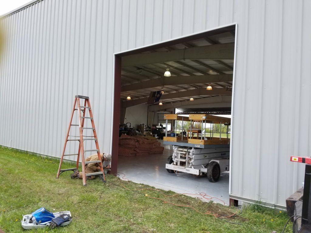 Rollup door, building rehab, building modification, building retrofit, steel building repair