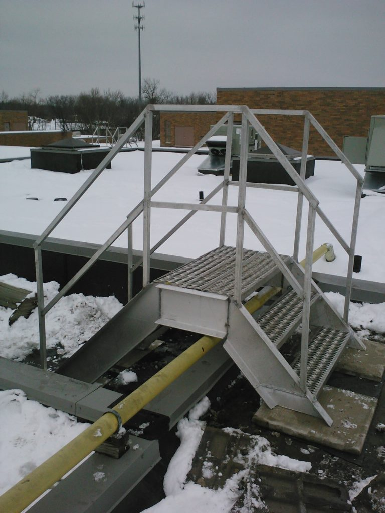 rooftop access stairs, stair fabrication, safety stair fabrication, aluminum fabrication