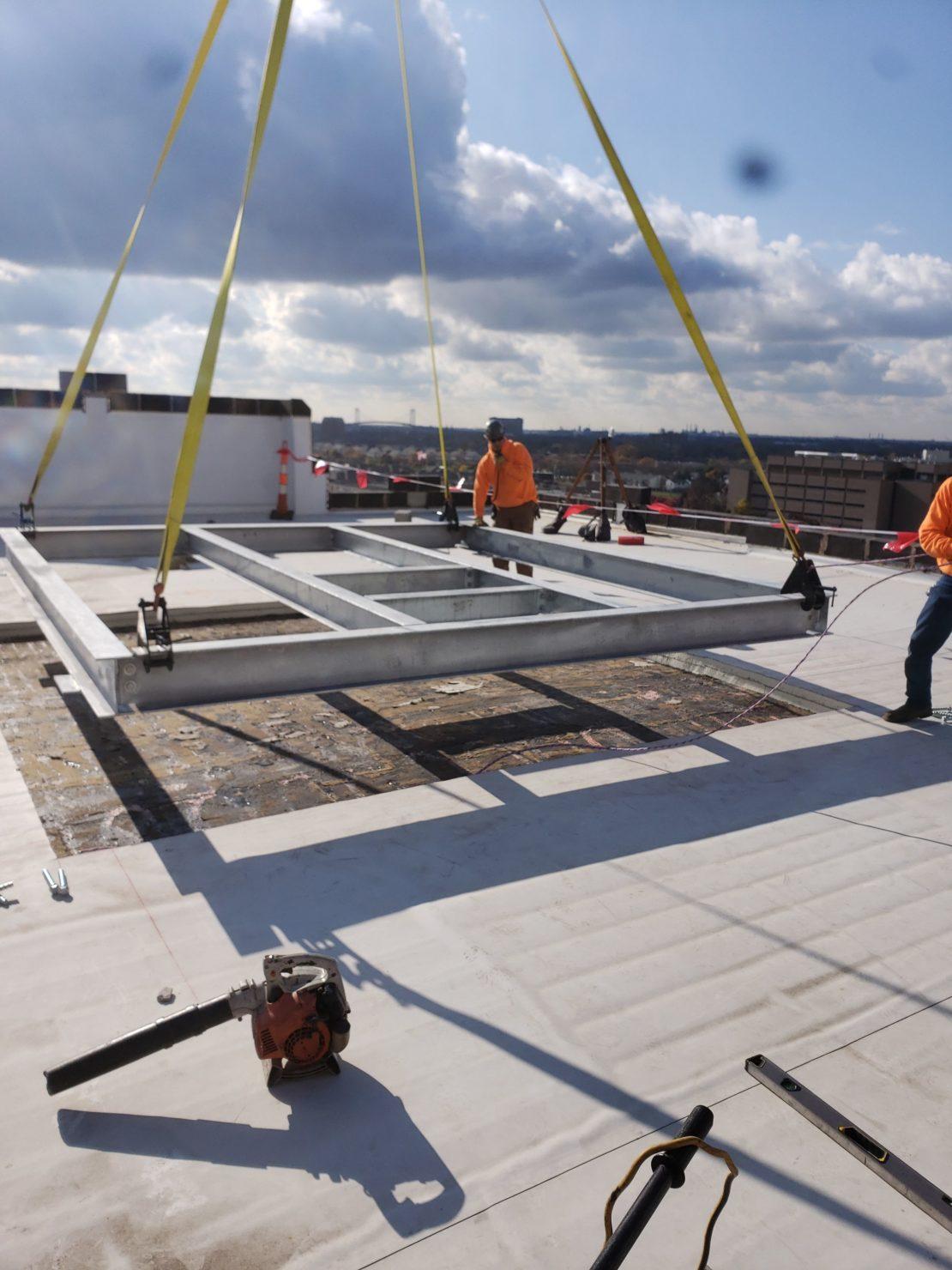 Rooftop equipment platform